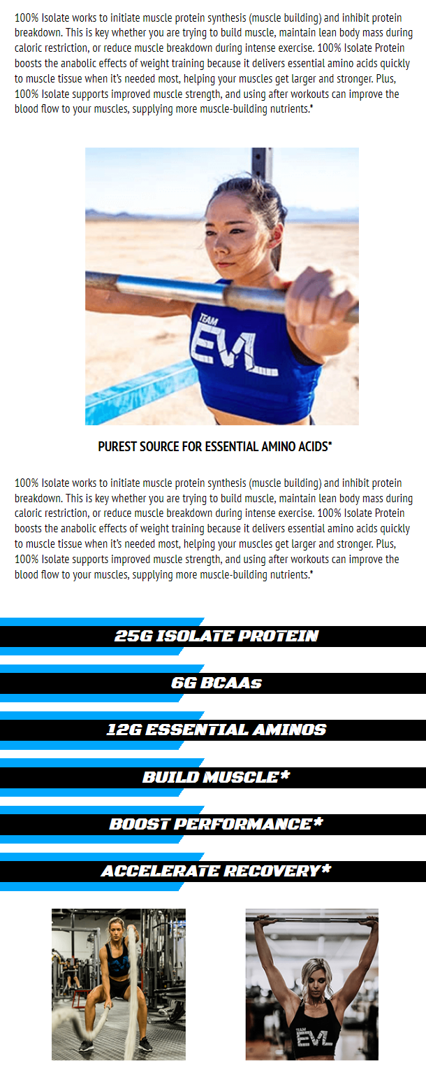 EVL 100% ISOLATE, DOUBLE RICH CHOCOLATE, 5 LBS 3