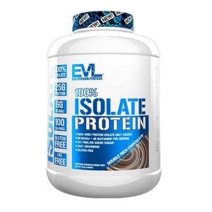 EVL 100% ISOLATE, DOUBLE RICH CHOCOLATE, 5 LBS