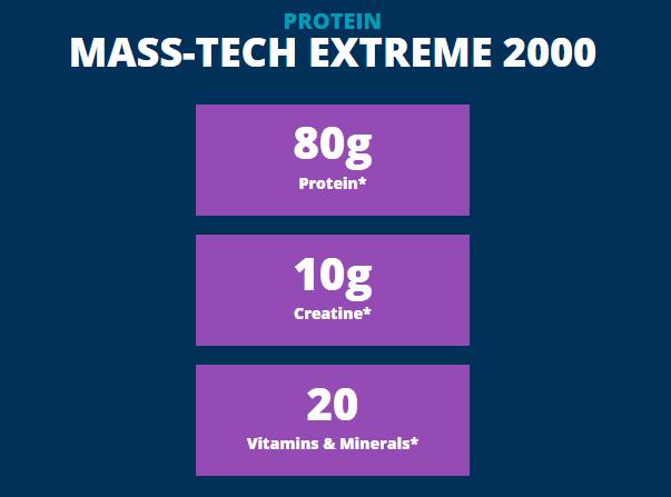 MUSCLETECH MASS TECH EXTREME 2000, VANILLA MILK SHAKE, 7 LBS 1