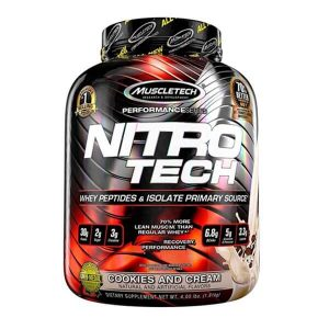 MUSCLETECH NITRO TECH PROTEIN, COOKIES & CREAM, 4 LBS