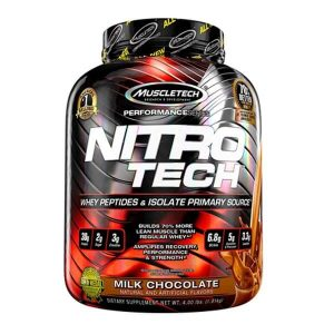 MUSCLETECH NITRO TECH PROTEIN, MILK CHOCOLATE, 4 LBS