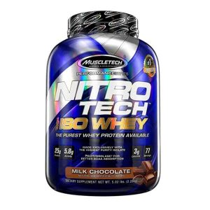 MUSCLETECH NITROTECH 100% ISO WHEY, MILK CHOCOLATE, 5 LBS