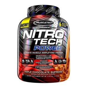 MUSCLETECH NITROTECH POWER, TRIPLE CHOCOLATE SUPREME, 4 LBS