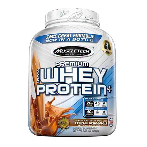 MUSCLETECH PREMIUM 100% WHEY PROTEIN PLUS, TRIPLE CHOCOLATE, 5 LBS