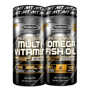 MUSCLETECH MULTIVITAMIN + MUSCLETECH 100% OMEGA FISH OIL, 100 CT