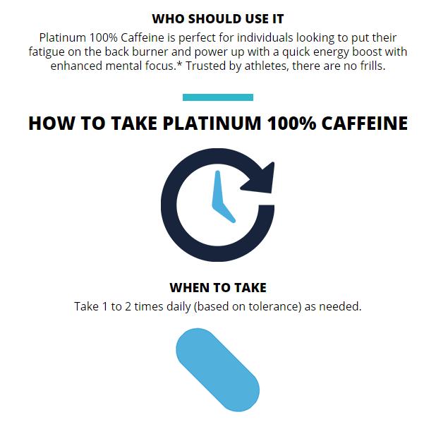 MUSCLETECH PLATINUM 100% CAFFEINE, 125 CT 20