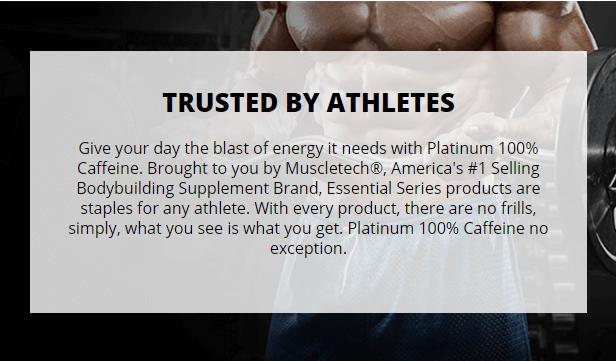 MUSCLETECH PLATINUM 100% CAFFEINE, 125 CT 22
