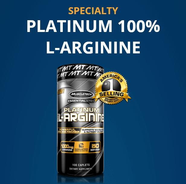 MUSCLETECH PLATINUM 100% L-ARGININE, 100 CT 15