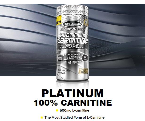 MUSCLETECH PLATINUM 100% L-CARNITINE, 180 CT 1