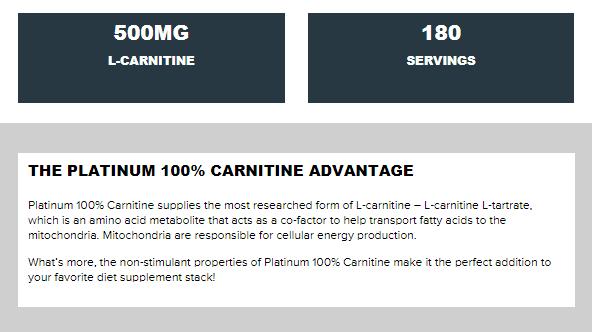 MUSCLETECH PLATINUM 100% L-CARNITINE, 180 CT 2