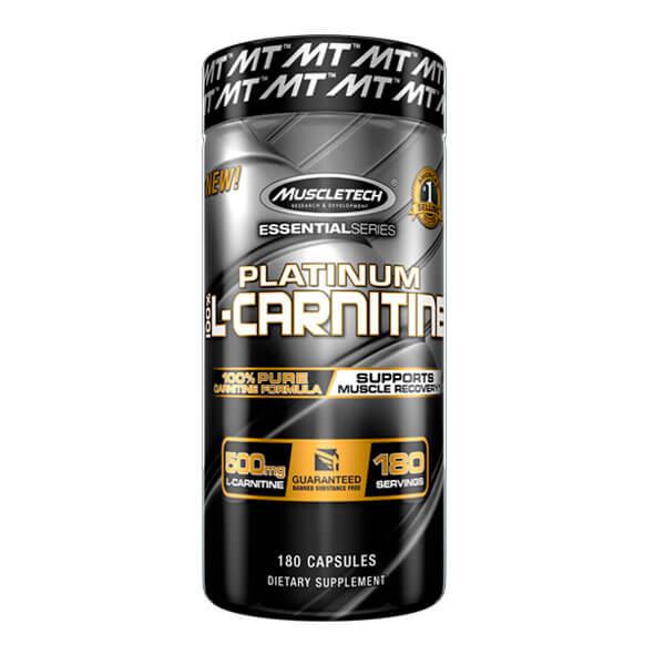 MUSCLETECH PLATINUM 100% L-CARNITINE, 180 CT