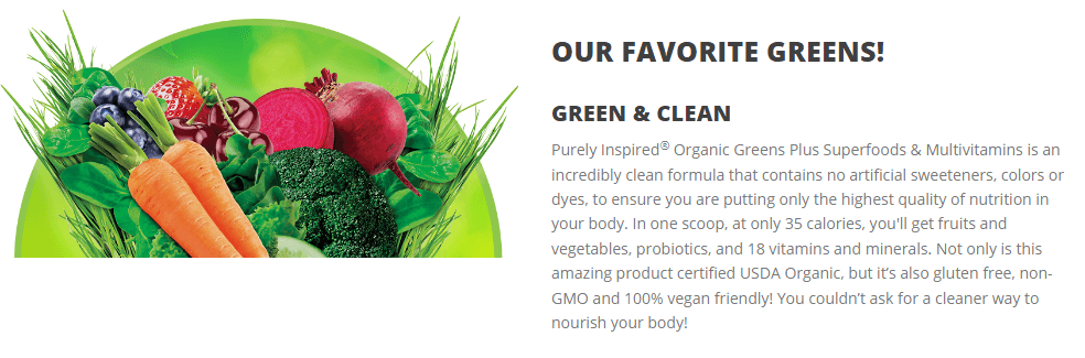 PURELY INSPIRED ORGANIC GREENS PLUS SUPERFOODS & MULTIVITAMIN 2