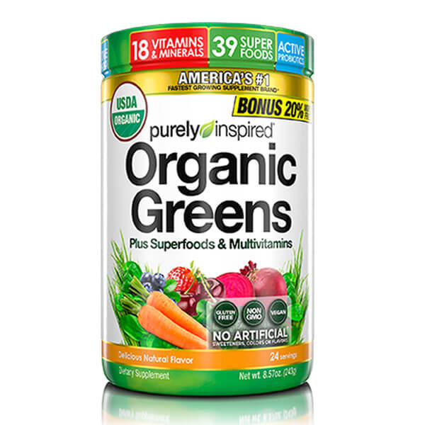 PURELY INSPIRED ORGANIC GREENS PLUS SUPERFOODS & MULTIVITAMIN