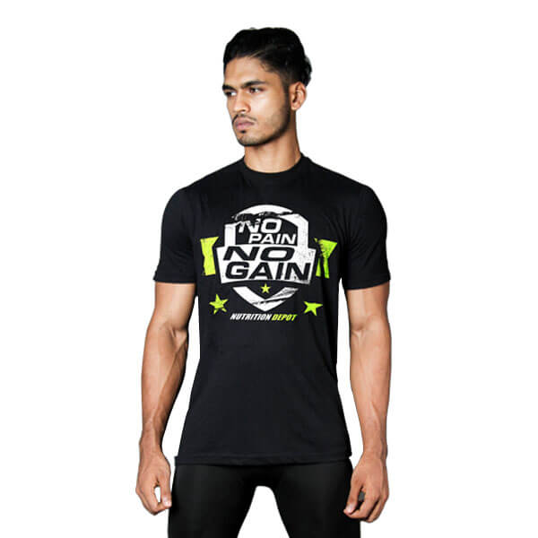 NUTRITION DEPOT – T-SHIRT (NO PAIN NO GAIN)