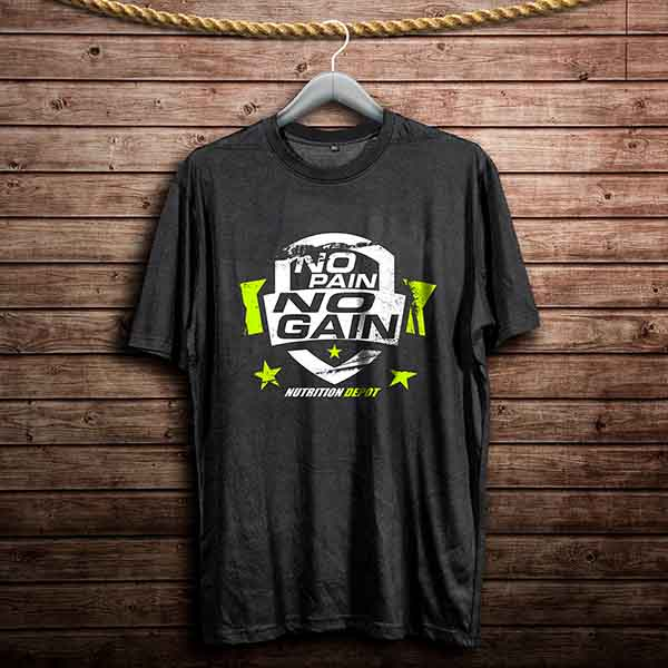 NUTRITION DEPOT T-SHIRT (NO PAIN NO GAIN)