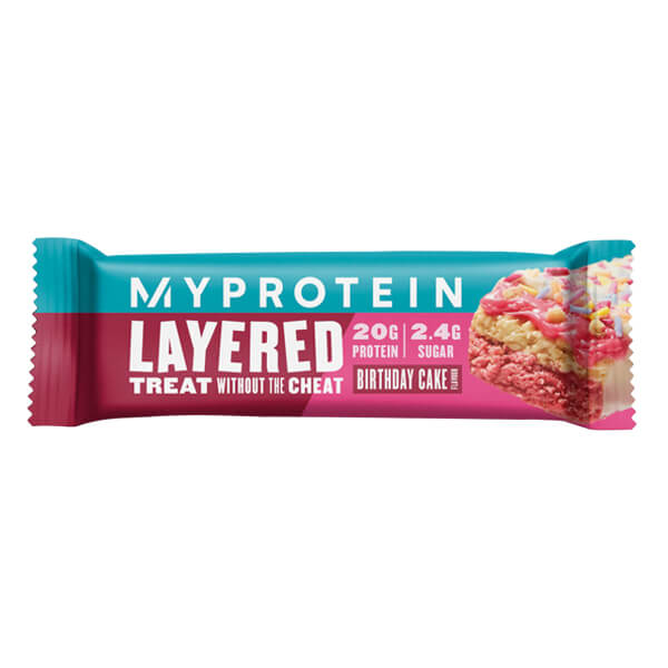 MYPROTEIN 6 LAYER PROTEIN BAR, BIRTHDAY CAKE