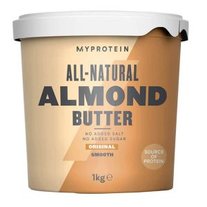 MYPROTEIN ALL NATURAL ALMOND BUTTER, ORIGINAL SMOOTH, 1KG