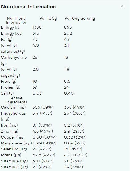 MYPROTEIN CLA SOFTGELS, 30 SERVING NUTRITION INFO P1