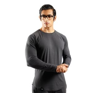 ND RAW ESSENTIAL LONG SLEEVE - GRAPHITE F1