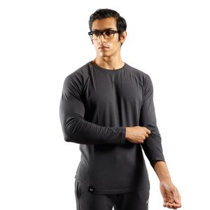 ND RAW ESSENTIAL LONG SLEEVE - GRAPHITE F3