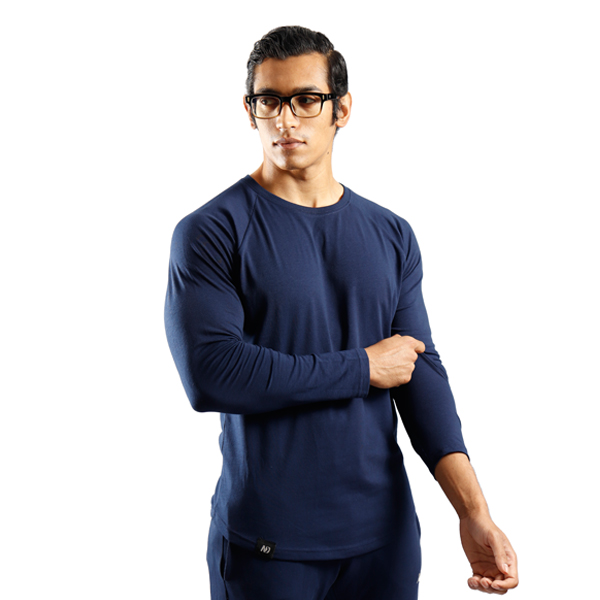 ND RAW ESSENTIAL LONG SLEEVE - NAVY f3