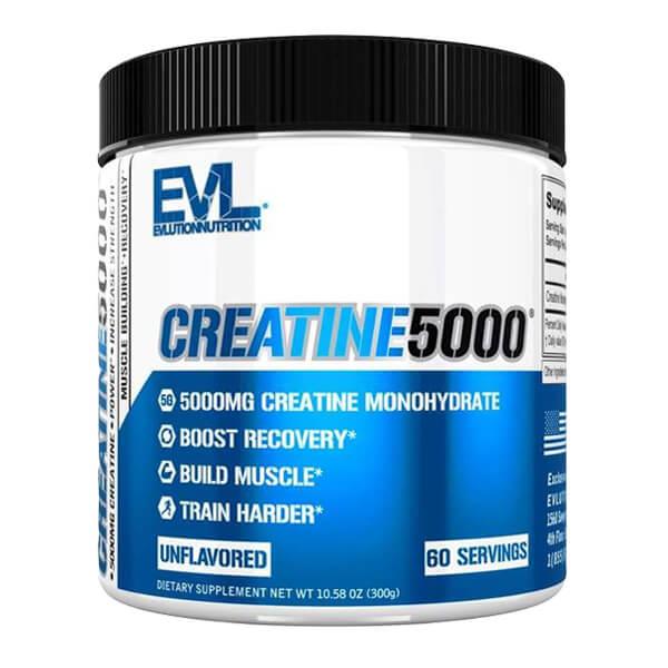 EVL CREATINE 5000, UNFLAVORED, 60 SERVING