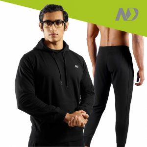 ND RAW ESSENTIAL HOODIE + JOGGERS - BLACK 01
