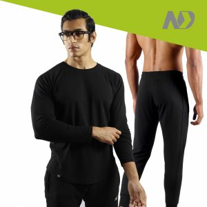 ND RAW ESSENTIAL JOGGERS + LONG SLEEVE - BLACK 01