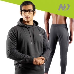 ND RAW ESSENTIAL HOODIE + JOGGERS - GRAPHITE 01