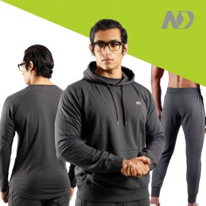 ND RAW ESSENTIAL HOODIE + JOGGERS + LONG SLEEVE - GRAPHITE 01