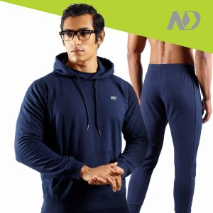 ND RAW ESSENTIAL HOODIE + JOGGERS - NAVY 1