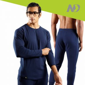 ND RAW ESSENTIAL JOGGERS + LONG SLEEVE - NAVY 01