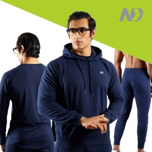 ND RAW ESSENTIAL HOODIE + JOGGERS + LONG SLEEVE - NAVY 01