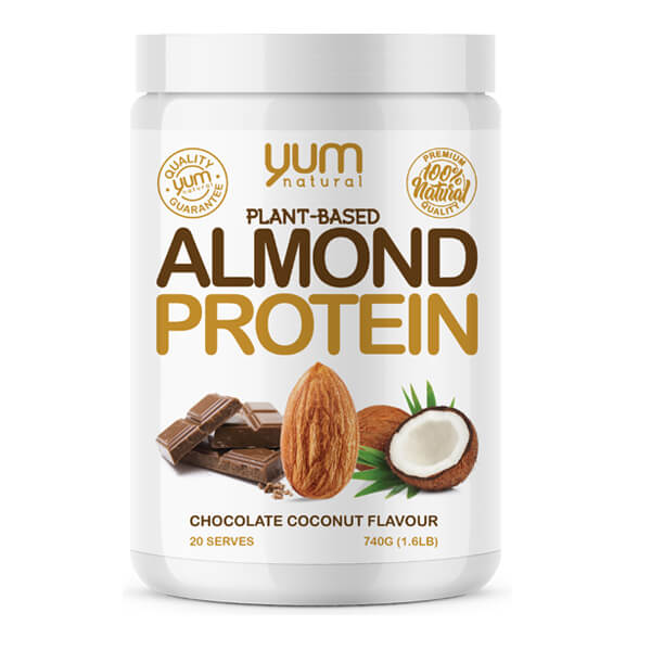 YUM NATURAL ALMOND PROTEIN, CHOCOLATE COCONUT, 1.6 LBS