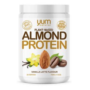 YUM NATURAL ALMOND PROTEIN, VANILLA LATTE, 1.6 LBS