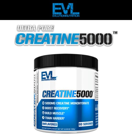 EVL CREATINE 5000, UNFLAVORED, 60 SERVING 9