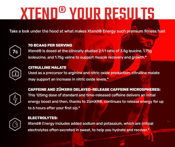 XTEND ENERGY, KNOCKOUT FRUIT PUNCH, 30 SERVING 3