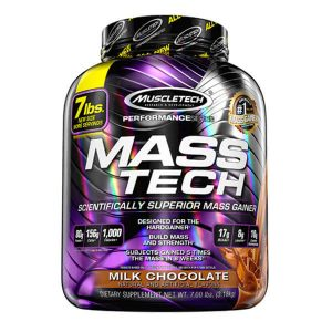 MUSCLETECH MASS TECH, MILK CHOCOLATE, 7 LBS