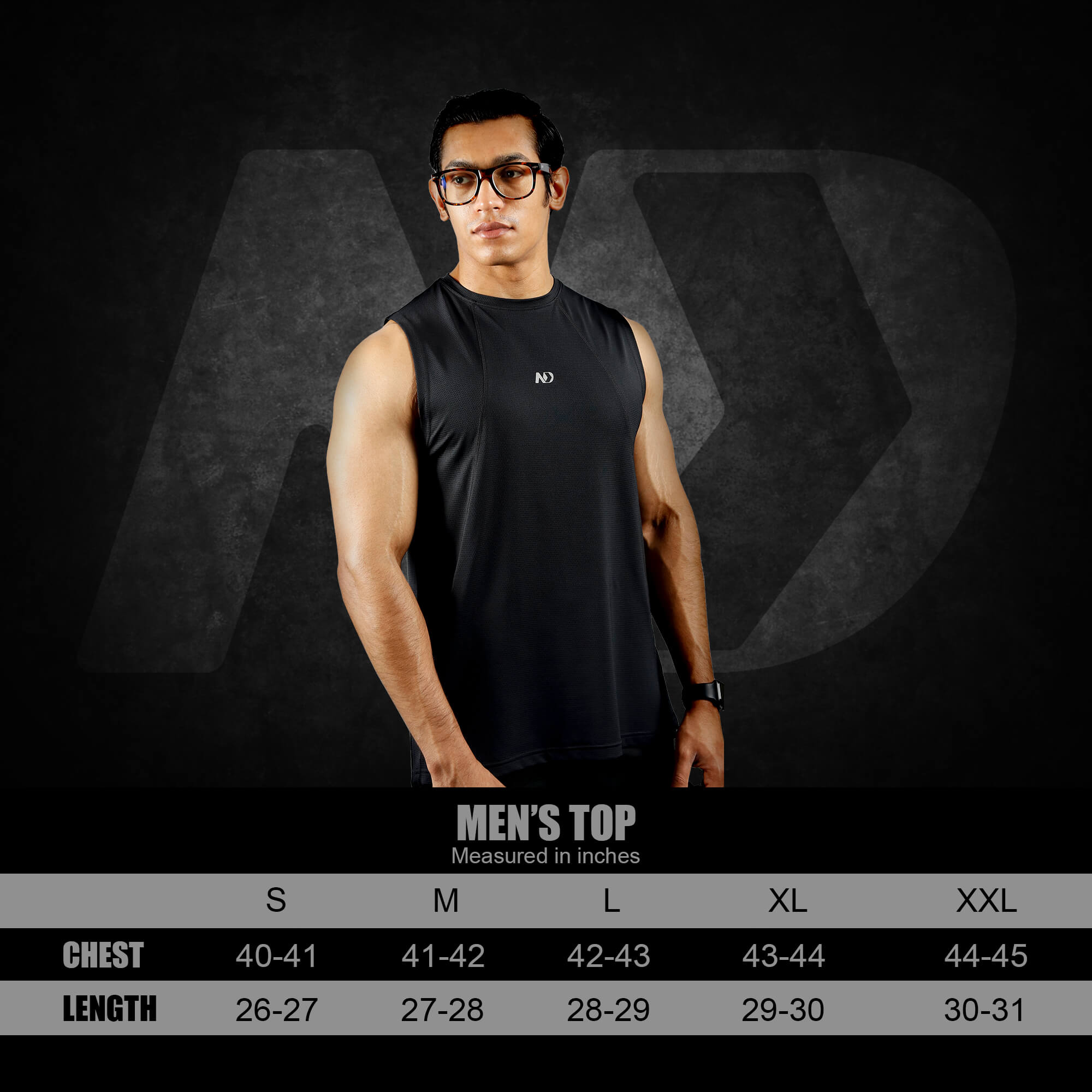 SIZE CHART - ND PERFORMANCE TANK TOP