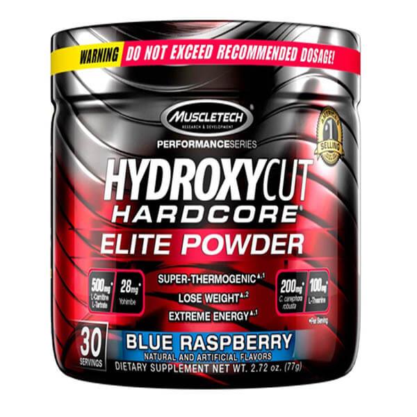 MUSCLETECH HYDROXYCUT ELITE POWDER, BLUE RASPBERRY, 30 SERVING