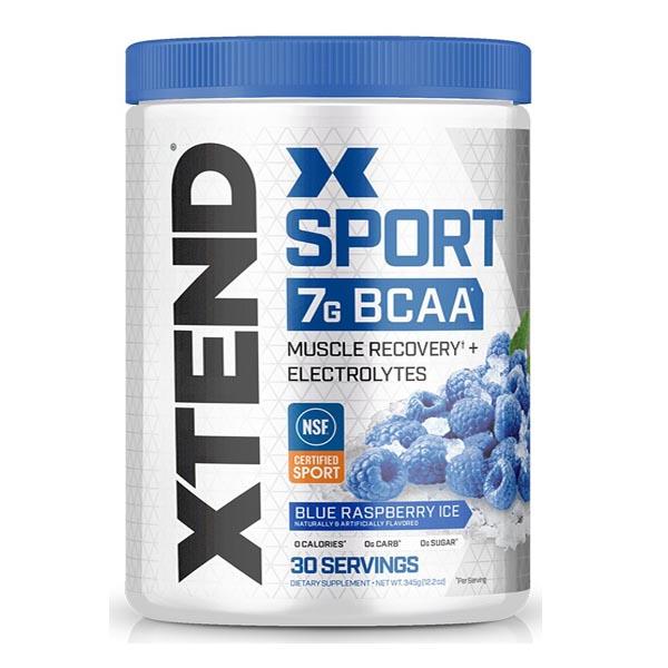 XTEND SPORT BCAA, BLUE RASPBERRY ICE, 30 SERVING