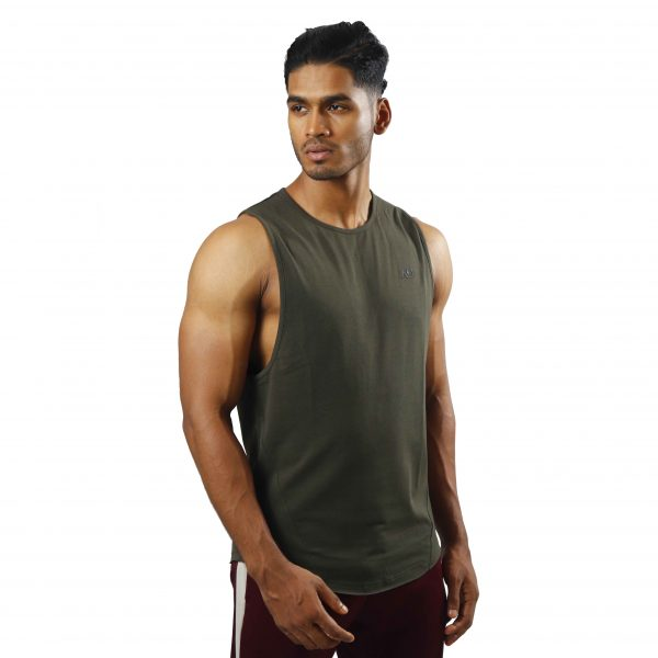 ND ESSENTIAL TANK TOP, OLIVE 1