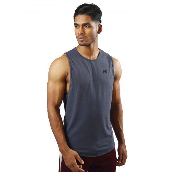 ND ESSENTIAL TANK TOP, CHARCOAL 1