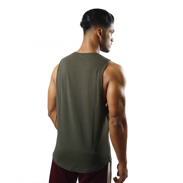 ND ESSENTIAL TANK TOP, OLIVE 2