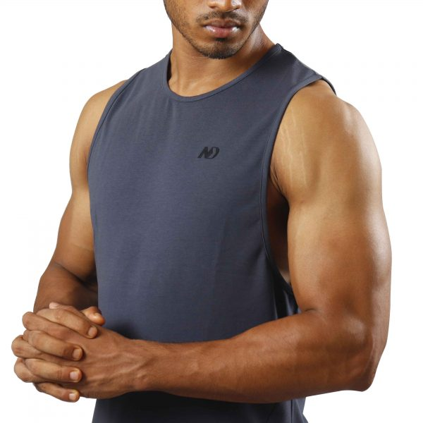 ND ESSENTIAL TANK TOP, CHARCOAL 3