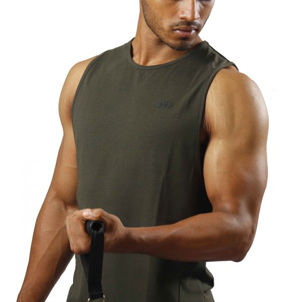 ND ESSENTIAL TANK TOP, OLIVE 4