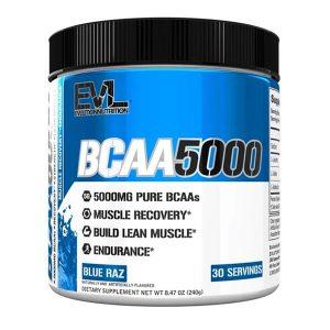 EVL BCAA 5000, BLUE RAZ, 30 SERVING P_1