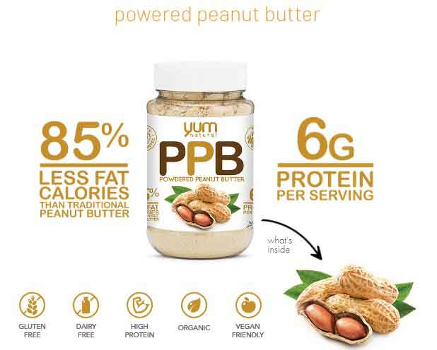 YUM NATURAL, POWDERED PEANUT BUTTER, CHOCOLATE, 1 LB 1