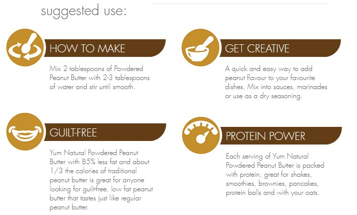 YUM NATURAL, POWDERED PEANUT BUTTER, CHOCOLATE, 1 LB 2