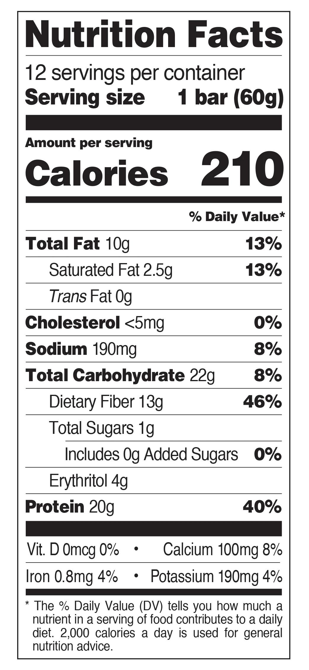 QUEST BAR, CHOCOLATE PEANUT BUTTER - NUTRITION INFO
